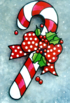 Christmas Candy Cane Windowpainting Pattern
