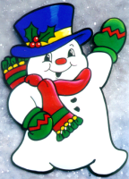 Frosty the snowman painting pattern.