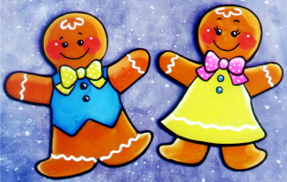 Gingerbread boy and gingerbread girl.