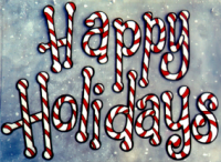 Happy holidays lettering pattern.